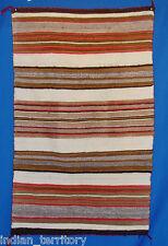 Navajo Indian Blanket: Transitional Period Banded Blanket Pattern c.1890