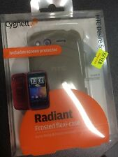 HTC Desire S Frosted TPU Flexi-Case in Ash + Screen Guard CY0397CHRAD Brand New.