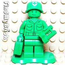 "M732 Lego Toy Story Green Army Men ""Medic"" with Briefcase & Binoculars 7595 NEW"