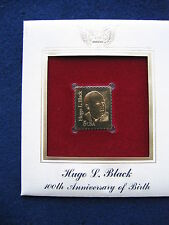 1986 Hugo Black 100th Anniversary of Birth Replica 22kt Gold Golden Cover Stamp