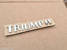 TRIUMPH  badge CHROME LETTER SET 703862 tr2 tr3. Tr4  tr4a gt6 spitfire ROW2-N