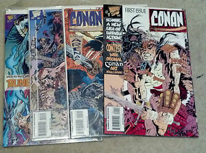 CONAN FULL SET 1-4(9.6-9.8)(NM+ TO NM/MT)4 ISSUES-MARVEL