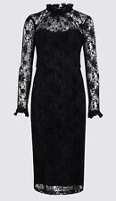 MARKS & SPENCER COLLECTION Floral Lace Long Sleeve Bodycon Midi Dress BNWT