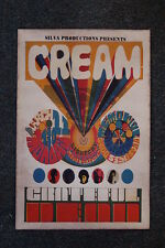 Cream Tour Poster Sacramento Memoril 1968 Grateful Dead