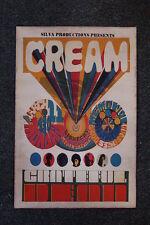 Cream Tour Poster Sacramento Memoril 1968 Grateful Dead