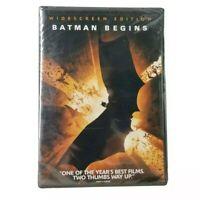 BATMAN BEGINS - Christian Bale, Christopher Nolan Version, BRAND NEW DVD