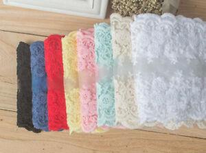 12cm,1 Yard Dress Skirt Handicrafts Embroidered Net Lace Trim Ribbon cotton BF03