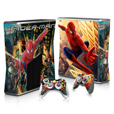XBOX 360 Slim Skin Sticker Decal Cover 10 Choices SPIDER-MAN MARVEL COMICS