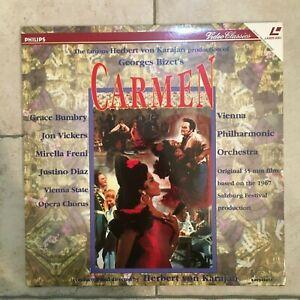 Bizet _ Carmen  _ 2 X LaserDisc _ 1995 Philips UK _ near mint _ RARE!!