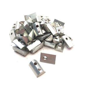 Lot of 50 80/20 Steel Zinc Roll-In T-Nut w/ Ball Spring, 15-Series, 10-32 Thread