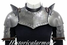 Iron Gorget Set Medieval Knight Crusader Roman Spartan Plate Armour+shoulder AAA