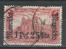 GERMAN PO IN MOROCCO 1911 MAROKKO OVERPRINT 1P25 USED