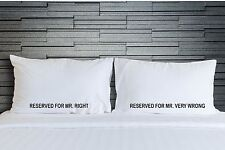 Pillowcases Mr Right Mens Gay Marriage Funny Bedding Adult Novelty Gift WSD766