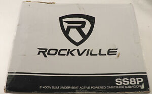 Rockville SS8P 8'' 400W Under Seat Powered Car/Truck Subwoofer