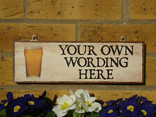 PERSONALISED LAGER SIGN DRINKING SIGN OUTDOOR SIGN GARDEN SIGN PATIO SIGN BEERS