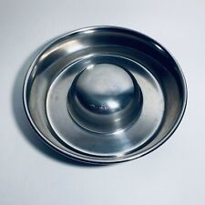 Slow Feed Dog Bowl by OURPETS Stainless Steel Size Medium Holds 4cups Dry Food
