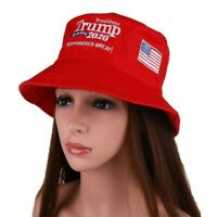 Donald Trump 2020 Make America Great Again Cap Red Bucket Fisherman Hat CA C-G