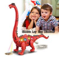 Egg Laying Walking Brachiosaurus Dinosaur T-REX Toy Lights Box HOT!!!