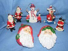Christmas Santa Claus Father Christmas Hanging Figurine Decoration Ornaments x 7