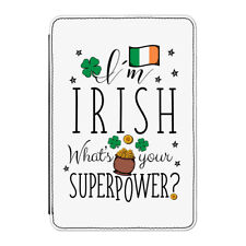 Input 'M Irish What's Your Superpower Bandiera Custodia Cover per Ipad Mini 1 2