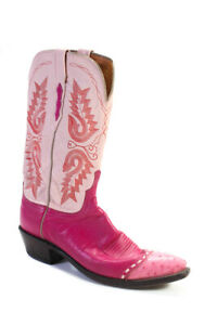 1883 by Lucchese  Womens Western Style Leather Boots Pink Size 10