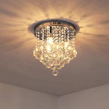 Ceiling Lamp Round Light Flush Mount Pendant Chandelier Crystal Silver Ф30cm