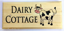 Personalised Cow Plaque / Sign / Gift - Dairy Cottage Farm House Animals