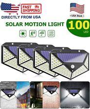 100 Led Waterproof Solar Power Pir Motion Sensor Wall Light Outdoor Garden Lamp