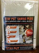 Stay Put Canvas PLUS with Surface Grip + Spill Block 4ft x 12ft Drop Cloth