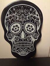 Day of the Dead Sugar Skull Dish (Black)