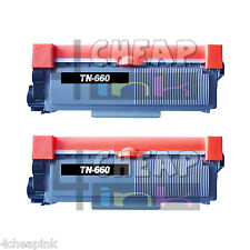 For Brother TN660 TN-660 Toner Cartridge Ink HL-L2340DW HL-L2360DW - 2 Pack