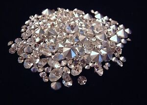 75 CRYSTAL CLEAR RHINESTONES MIXED SIZES CRAFTS JEWELRY REPAIR LOOSE