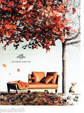 PUBLICITE ADVERTISING 066  2012  Hermès  les fauteuils sièges cuir
