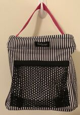 Thirty One Littles Carry All Caddy Black And White Stripes