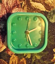 ACCTIM MODERN STYLE TURQUOISE METAL CASED ALARM CLOCK (RPNOCODE)