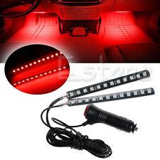 2x12 LED Car SUV Neon Stick Strip Interior Footwell Floor Decor Atmosphere Light