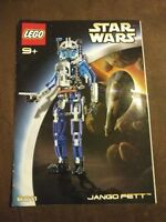 Star Wars Lego Technic 8011 Jango Fett Instruction Manual Booklet Book ONLY