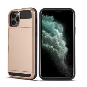 For iPhone 12 Pro Max 11 Xs XR Shockproof Hard Case Wallet Credit Card Holder