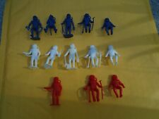 """Vintage MPC Astronaut Plastic Action Figures, 2"""",Red, White &Blue (13) Very Nice"""