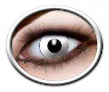 ZOE WHITE ZOMBIE lentille de couleur blanche lens contact halloween vampire