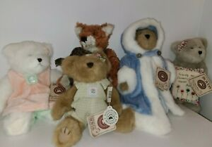 The Boyds Bears Lot of Collectible Plush Teddy Bears & Fox