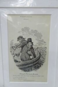 LITHOGRAPH SKETCHES BY SEYMOUR DRAWING NO.22 MOUNTED ETCHING FLEET ST LONDON
