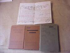 ORIGINAL WWII USN AVIATION LOG BOOK SET / NEPTUNE REX CERTIFICATE ETC