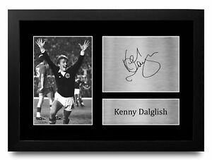 Kenny Dalglish A4 Scotland Gifts Printed Autograph Picture for Football Fans