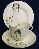 Vintage Royal Doulton Art Deco Tea Trio Eden V1112 hand painted bone china d1932