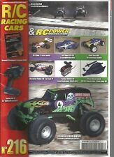 R/C RACING CAR N°216 TRAXXAS GRAVE DIGGER / RB E ONE / MAVERICK VADER XB / MHD