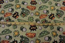 Angry Birds Cotton Fabric Irish Pot of Gold Clover Irish Hat Angry Birds 1.27 Yd