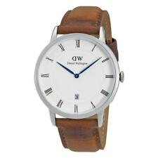 Daniel Wellington Dapper 38mm Durham Silver Brown Leather Men's Watch DW00100116