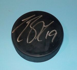 Travis Zajac Signed Autographed Puck New Jersey Devils