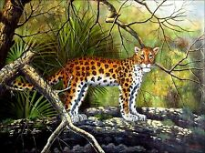 Stretched Quality Hand Painted Oil Painting The Leopard 36x48in